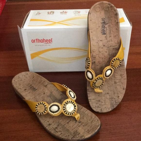 b1730453591 Ladies Orthaheel dressy flip flop sandal. M 5abe78f88290afe8280ae244